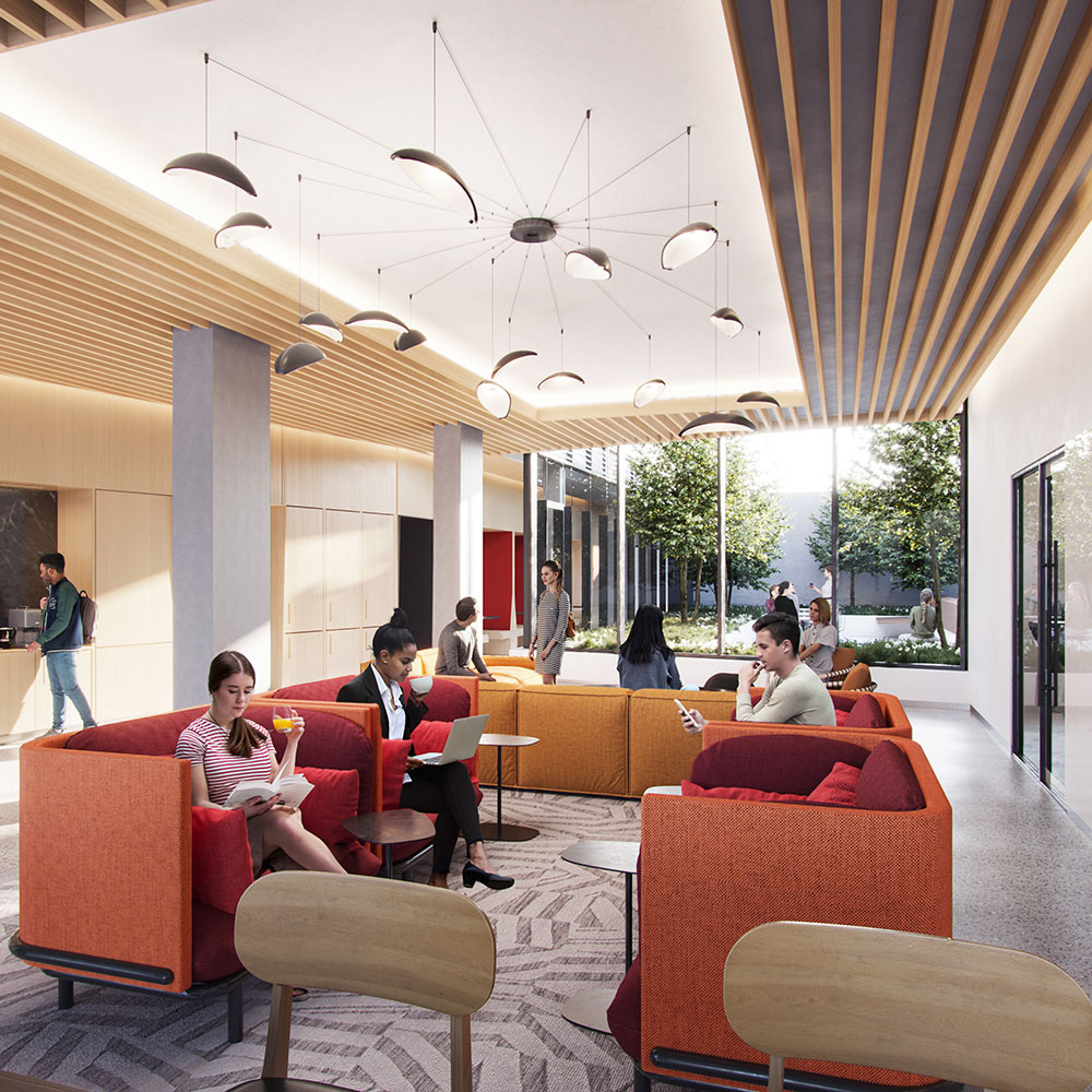Rendering of student common area